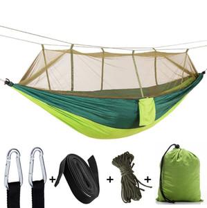 Moustiquaire Hamacs 2 personne Parachute Hamac Camping suspendus de Couchage Lit En Plein Air Hamac 12 conceptions Ensembles Livraison Gratuite WZW-YW3760