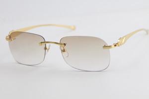 Verkauf von Metall Leopard Serie Randlos Sonnenbrille T8100624 Katzenauge Adumbral Sonnenbrille Mode-Qualitäts-Sommer Outdoor-Reisen Gold-