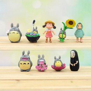 9pcs lot Ghibli Anime Figure My Neighbor Totoro Toy Hayao Miyazaki Mini Garden PVC Action Figures Toys For Kids Gifts