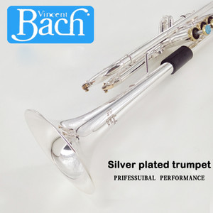American Bach trumpet LT197S-100 B Flat Trumpet Musical Instrument One integrated Speaker Professioner Beginner trompete Free shipping