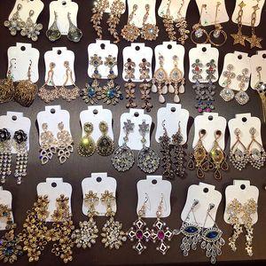 Nouveau style européen américain doré boucles d'oreilles motif de diamant tchèque de longues boucles d'oreilles pompon mélange lot rétro femmes boucles d'oreilles DHL