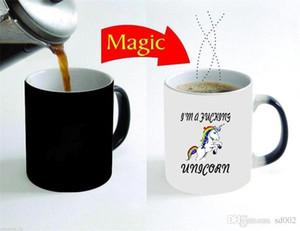 Cartoon Unicorn Tumbler resistenti al calore in ceramica Tazze Magiche Temperature Sensing Cambia colore tazza di caffè Nuovo 15yya C R