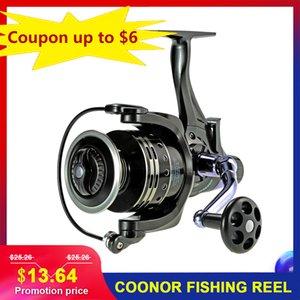 Rolos baratos Coonor Spinning 11 + 1 4: 7: 1 Lure carpa peixe equipamento para pesca de linha molinete peixes Rolos 11 + 1B Carretel