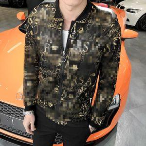 Fashion 2019 Jacket Men Brand New Slim Fit Sun Protection Clothing Summer Long Sleeve Print Bomber Jacket Plus Size 5XL-M Hot