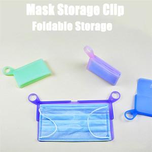 Silicone Natura piatto Maschera Storage Box maschera di ritaglio temporaneo antipolvere a prova di inquinamento Borse Holder Sicurezza Mask Artefatto LX2889