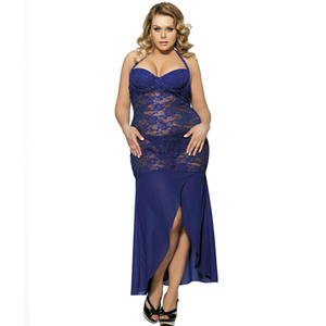 Nightclub new sexy lace sling long skirt evening dress low-cut perspective fashion long lace dress