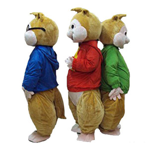 FashioN New Mascot Red Alvin and The Chipmunks Costume Chipmunk Mascot Costume Halloween Costume