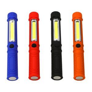 IVYSHION impermeável ao ar livre COB portátil de plástico Pen Holder Magnet Luz de trabalho Manutenção LED 3W Bateria seco