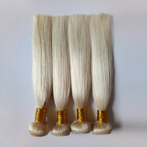 European virgin Human Hair weaves Blonde #613 double weft Peruvian remy Hair Bundles Unprocessed silky Brazilian remy Human Hair extensions