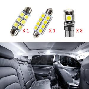 10PCS لا خطأ في canbus السيارات LED ضوء لمبات الداخلية حزمة عدة للحصول 2011-2015 فولفو S60 سيدان خريطة قبة الجذع علبة القفازات مصباح الأبيض