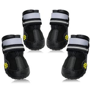 Scarpa riflettente per scarpe stivali invernali cani da pioggia scarpe antiscivolo scarpe pet antiscivolo per cani di taglia media