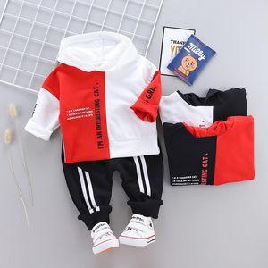 Bebek Tasarımcı Giyim Bebek Boys Kız Kış Elbise Takım Elbise Kid Spor Kapşonlu Triko Pantolon 2adet Bebek / Çocuk Bebek Eşofman Takımları