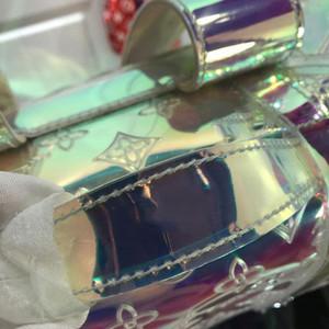 Дизайнер-рюкзаки прозрачный лазер женщины дизайнерские сумки высокое качество ПВХ материал кошельки дизайнер мужчины высокое качество рюкзак