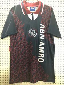 1994 1995 Ajax Retro Fußball-Trikot 94 95 Meister Jersey Rijkaard Kluivert Litmanen DE BOER SEEDORF DAVIDS Vintage weg Fußballhemden