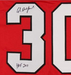 "Ed Belfour Taşa Yazılan ""HOF 2011"" İmza Jersey gömlek signaturer signatured Signed"