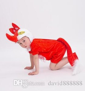 2017 New style children Cosplay Red fox deer chicken Animal perform Sequins clothing Boys and girls Dance Conjoined clothes long style