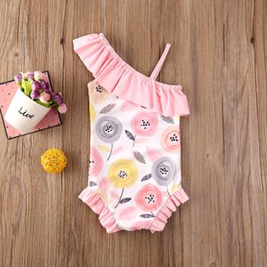 1-5Years Toddler Kid Baby Girl Floral Swimwear One-piece Bikini Beach clothes