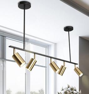 Banhado a ouro abajur Led Spotlight luminária design moderno de suspensão Local para Sala de Jantar do metal do ouro suspensão Luminaire MYY
