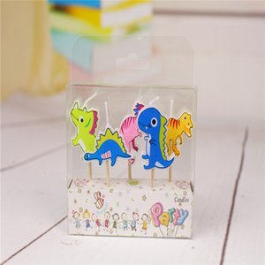 5PCS Pack Dinosaur Candles lovely Candles Set Of Children's Birthday Party Cartoon Candle Baby Shower Favor