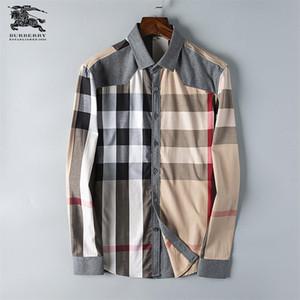 Negócio de marca dos homens camisa Ocasional dos homens de manga longa listrado slim fit camisa masculina social masculino T-shirts new fashion homem verificado camisa # C11