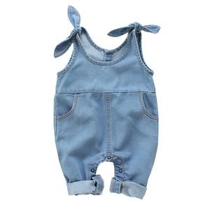 Yeni Yaz Bebek Bebek Erkek Kız Tulum Çocuklar Onesies Denim Tulum Tulumlar Çocuk Bodysuit 14810