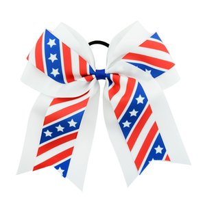 Дети Бейсбол Шпильки США Америка Флаг зажим для волос Зажимы для волос ребёнков Bow Заколки Звезды Упругие Hairbands Звезда волос GGA2682