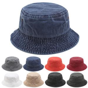 Algodón de la manera del sombrero del cubo Para mujer para hombre plegable Caps Negro Pescador Playa parasol plegable Venta Hombre Cap Bowler casquette