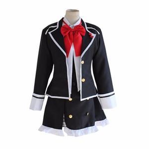 DIABOLIK LOVERS Komori Yui cosplay costume coat shirt skirt full set school uniform dress Carnival Anime ( Jacket + Vest + Skirt + Bow tie )