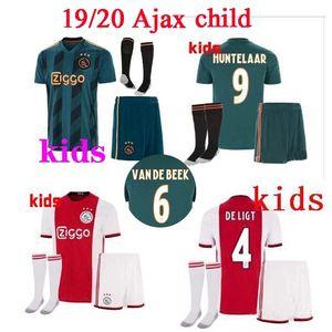 Free socks 2019 Ajax Home away YOUNES ZIYECH NOURI DOLBERG VAN DE BEEK Soccer Jerseys kids kits 19 20 Ajax child Football Shirts Jerseys ki