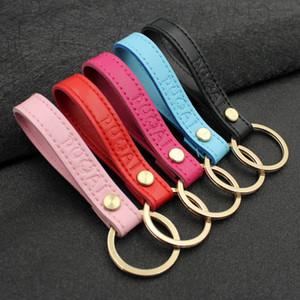 ديي مفتاح سلسلة الهاتف المحمول قذيفة تزيين الحلي leatherwear الإبداعية كيرينغ الرجال النساء زوجين سيارة حقيبة قلادة 2 6nb n1