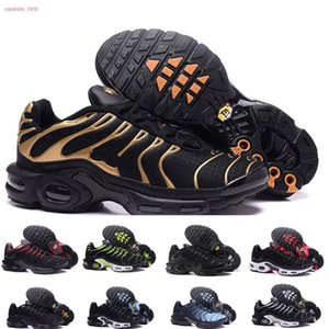 2019 New Tn Shoes For Design Men Tn Plus Sports Shoes Cheap Tn Requin Breathable Mesh Black White Red Outdoor Sneakers