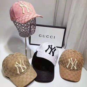 2019 New Luxury klassischer Brief NY Basketball Hut Männer und Frauen Berühmter Cotton Einstellbare Schädel Sport Golf Curved Qualitätsbaseballmütze