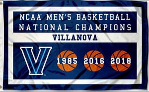 Villanova Wildcats erkek Basketbol 2018 Ulusal Şampiyonlar Bayrak Banner 150 CM * 90 CM 3 * 5FT Polyester Özel Banner Spor Bayrak