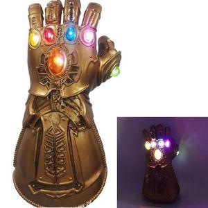 액션 피규어 34cm 복수 자 핸드 얼라이언스 3/4 타 노스 무한 대전 장갑 애니메 액션 장난감 애니메이저 복수 자 Thanos Glove Halloween