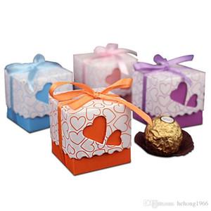 Nuovo compleanno creativo di caramella doppio Hollow regalo di carta di amore del cuore Borse nastro di imballaggio scatola multi colore di alta qualità 0 14ab