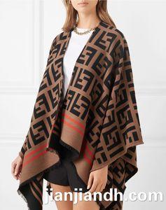 2019 autumn and winter new cloak shawl coat letters loose wild tassel irregular clothing angle fashion sweater female 818