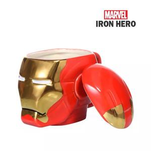 Marvel Hochwertige 3D Iron Man Kaffeetassen coole Tassen und Becher mit Deckel Avengers markieren Kindergeschenke