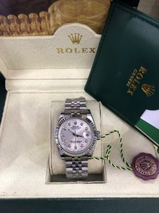 2020 Original de madeira caixa presidente 116518 DATA dia apenas Diamonds Assista 41MM / 36MM Homens inoxidável Bezel Diamante automático Watche Masculino