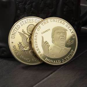 2020 Trump monete commemorative della moneta americana 45th presidente Donald Trump Ricordo del mestiere Oro Argento Metal Badge Collection DBC BH3728