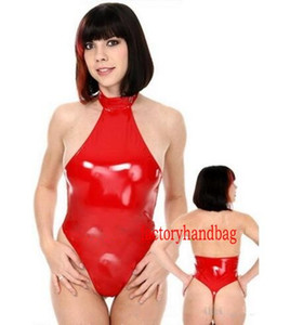 Trajes brilhante Suit Catsuit sexy Mulheres curto PVC corpo Costumes Suit Halloween Party Fancy Dress Cosplay