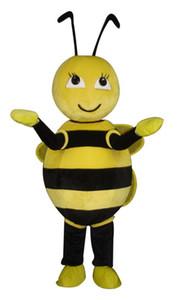 Bee-Maskottchen-Kostüm-Cartoon-Charakter Erwachsener Sz 100% Echt Picture33