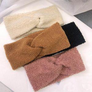 Haimeikang Autumn Winter Bezel Rims Fashion Headdress Plush Velvet Warm Hair Band Tiara knitting Wool Headband Hair Accessories