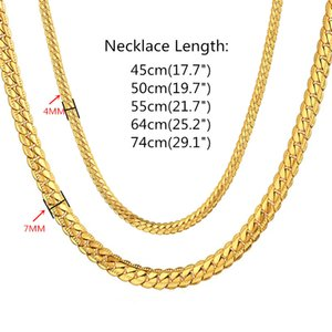 Men's Hip Hop Silver Color Chain Male Stainless Steel snake Chain Necklace For Men, Wholesale Collares 7MM womens Chain Jewelry