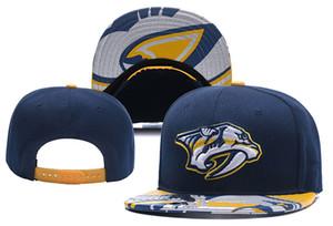 Нэшвилл Хищники Хоккей Вязаные шапочки Вышивка Регулируемая шапка Вышитые шапки Snapback Темно-синие красные сшитые шапки Один размер
