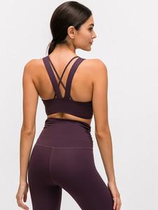 LU-73 Mulheres Bra Longo Linha Energia Empurrando limites de textura média Suporte BC Cup esquecer o resto Gym Workout Yoga Vest Sexy Lady Underwear
