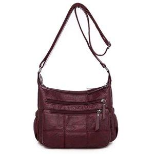 LONOOLISA Qualitäts-weiche PU-Leder Damen Handtaschen Taschen de mujer Umhängetaschen für Frauen-Schulter-Massenger
