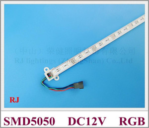 SMD 5050 RGB LED bande rigide 5050 RGB LED barre de lumière comptoir armoire lampe 60 led 100cm DC12V Fedex livraison gratuite