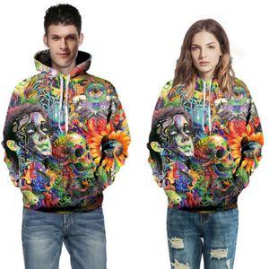Sweatshirts Männer Frauen Unisex 2018 beiläufige Langarm-3D Digital Printed Hoodie Sweatshits Pullover