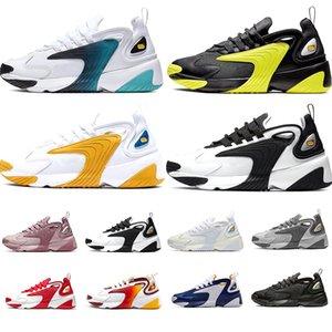 Nike air zoom M2k Yaşam Tarzı Koşu Ayakkabıları Beyaz Siyah Mavi ZM 2000 90 s tarzı Trainer Tasarımcı Açık Sneakers M2K Rahat Nedensel Ayakkabı 36-45