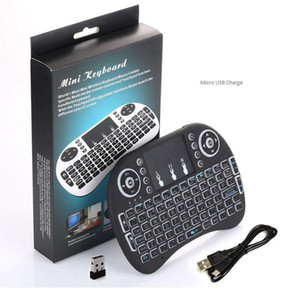 Mini teclado sin hilos de Rii i8 2,4 GHz Air Mouse teclado remoto Panel táctil de control para Android TV Box juego 3D Tablet Pc